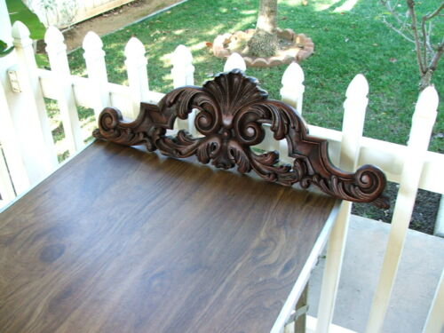 Antique Victorian Hand Carved PEDIMENT, CORNICE, Crown, for Door, Window & More