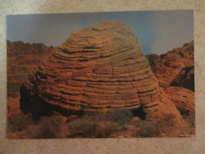 Vintage Post Card The Bee Hives Nevada State Park Santstone Shapes