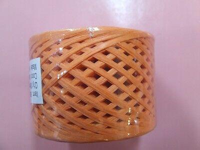 HALLOWEEN ORANGE Paper Craft Ribbon  RAFFIA WRAPHIA 100 Yards Roll Heavy Duty