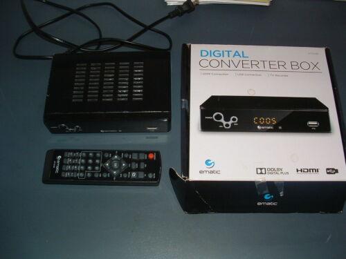 EMATIC AT103B DIGITAL CONVERTER BOX RECORDING/PLAYBACK/PARENTAL CONTROL/REMOTE