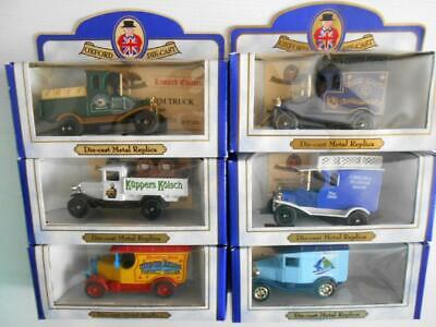 Oxford Diecast Commercial Vans/Lorries Boxed New Limited Edition x6 Job Lot
