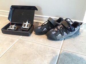 Pédales à clip hybride et souliers