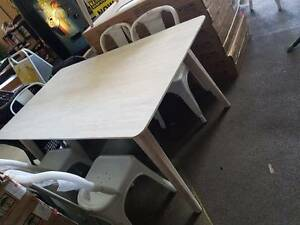 NEW BOXED!! HIGH END CLEARANCE! White wash 1800L dining table Springwood Logan Area Preview