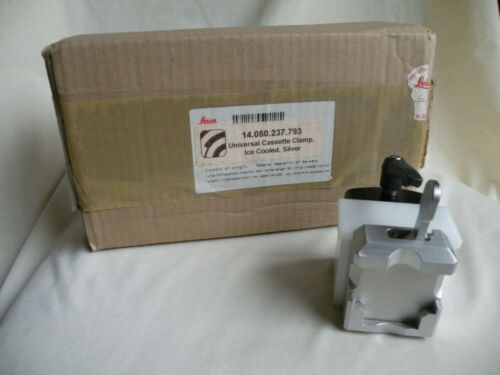 Leica Universal Cassette Clamp Ice Cooled, Silver 14.050.237.793 NIB    REDUCED