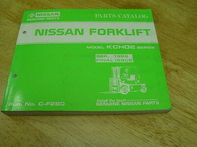 NISSAN OEM Forklift  PARTS CATALOG Model KCH02 1998 Final Issue  LQQK!  Nissan Oem Parts Catalog