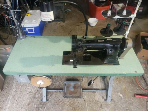 SINGER 112w-140  Industrial Double Needle WALKING FOOT SEWING MACHINE & STAND