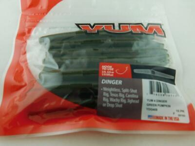 Mizmo Tubes 2.75 Inch Teasers Green Pumpkin with Black Flake