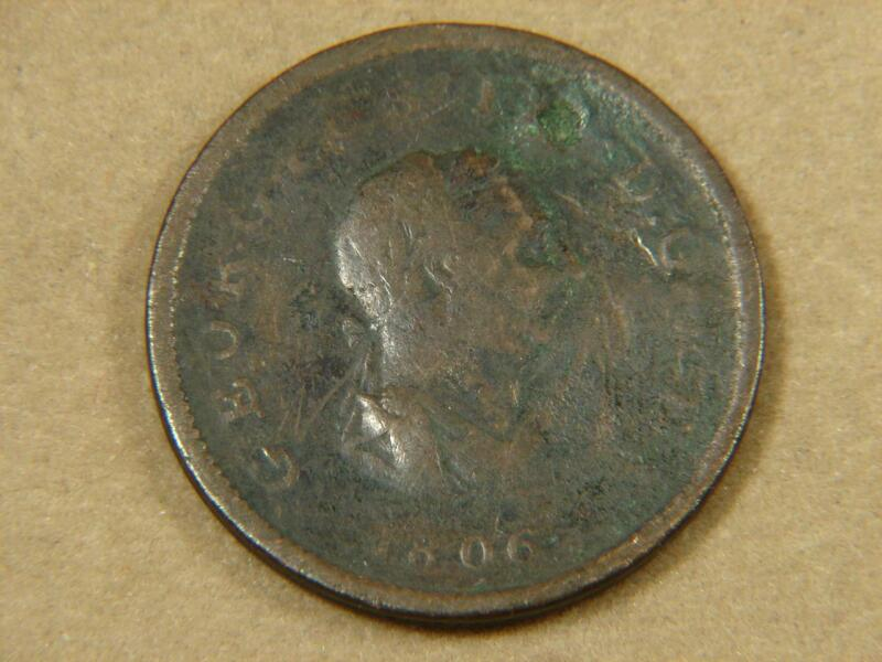 1806 Great Britain Penny Coin