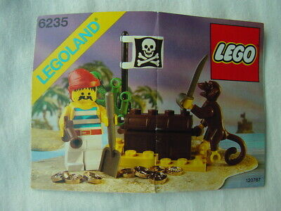LEGO PIRATES 6235 BURIED TREASURE 100% COMPLETE VINTAGE SET 1989 (See my items)