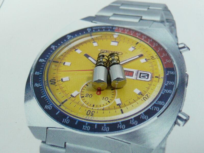 Pushers for SEIKO Pogue 6139-6005  6139-6002 6139-6007 Push Button Gasket Spring