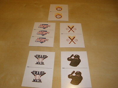 2012 Panini Triple Play Baseball Tattoo Set (1-5) (Baseball Tattoos)