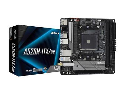 NEW ASRock A520M-ITX/AC AM4 AMD A520 SATA 6Gb/s Mini ITX AMD Motherboard