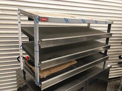 New 48 Triple Slant Shelf Heated Pizza Food Warmer Hatco Grpws-4818t 3196