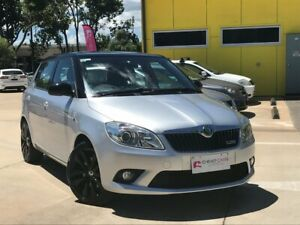 2012 Skoda Fabia 5JF MY13 RS DSG 132TSI Silver 7 Speed Sports Automatic Dual Clutch Hatchback South Toowoomba Toowoomba City Preview