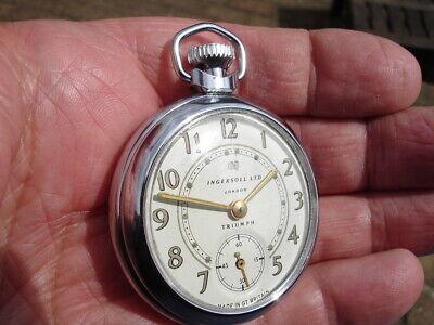 "Excellent rebuilt 1962, Ingersoll ""Triumph"" Pocket Watch."