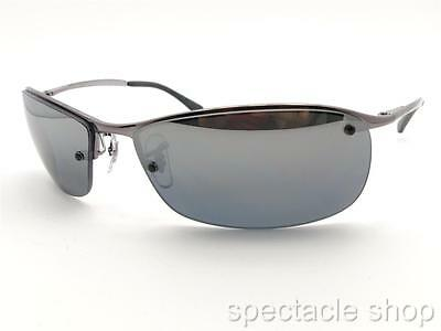 Ray Ban RB 3183 004/82 63mm Gunmetal Polarized Mirror Sunglass New (Rb3183 Polarized)