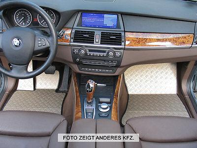 BMW X3 Typ E83/X83 Alu Fußmatten Set 5-tlg. DTE-S ()