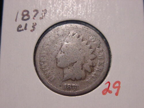 1873 CLOSED 3 INDIAN HEAD CENT GOOD G NICE BETTER DATE COIN COMBINED SHIPPING