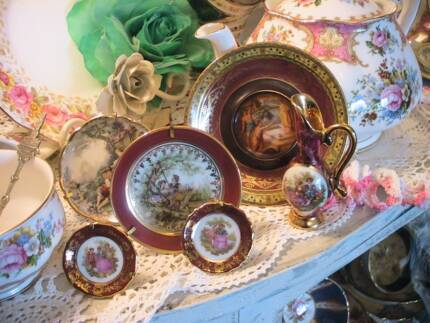 MINIATURE LIMOGES FRENCH CHINA JUG 4 PLATES STANDS u0026 CZECH PLATE & Limoges Miniature jug | Collectables | Gumtree Australia Manly Area ...