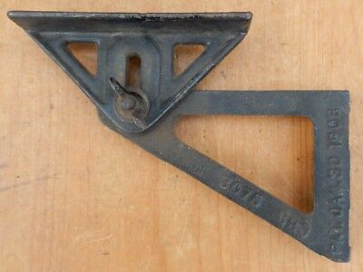 Spangenburg Germantown PA PAT Jan 1906 Adjustable Cast Iron Bracket