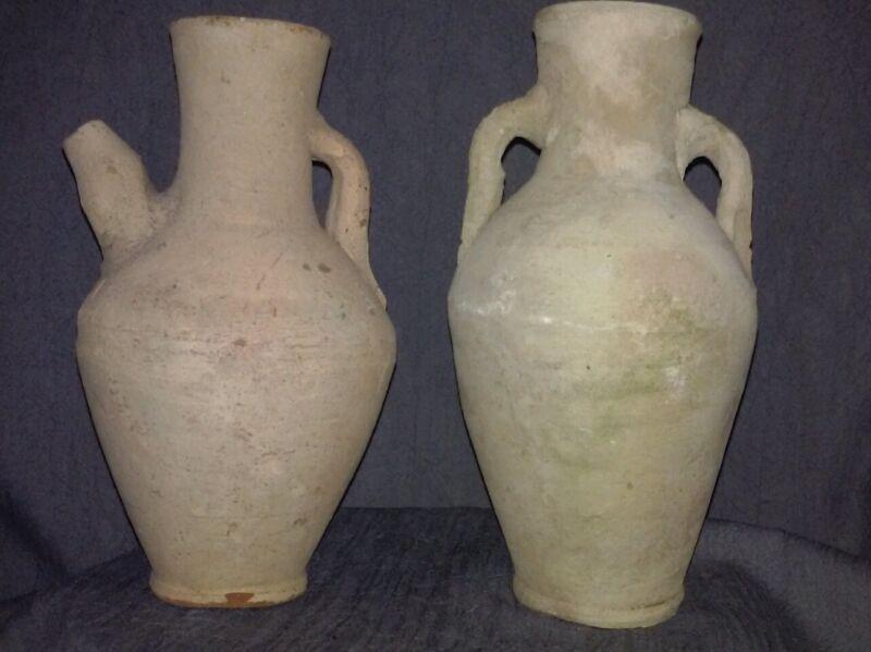 Antique Terracotta Wine Vessel jugs