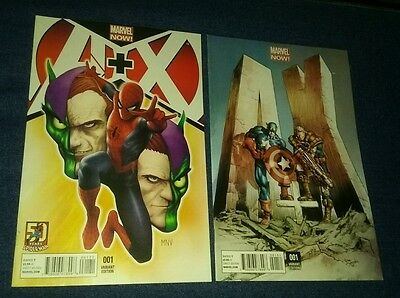 A + X #1 variant covers lot mcniven spiderman cable avengers x-men green goblin