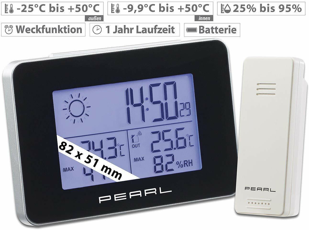 MK3356B Wetterstation Funkwecker mit Außensensor Innen-//Außentemperatur