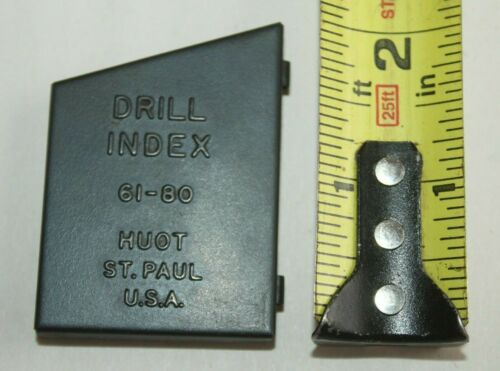 i) Vintage Machinist Huot St. Paul Drill Index No.61 - 80 Metal Case Only