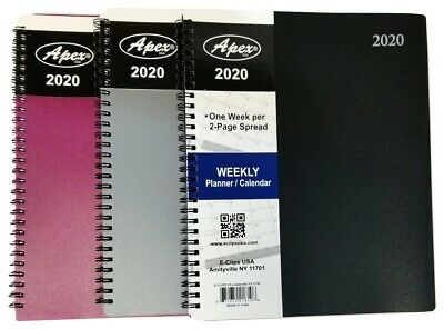 2020 Weeklymonthly Spiral Bound Planner With Durable Vinyl Cover - 8 In X 10 In