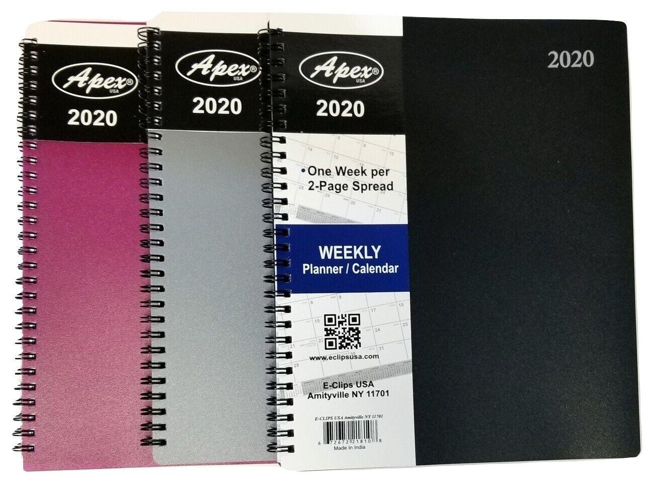 2020 weekly monthly spiral bound planner