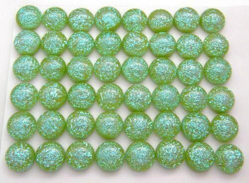 SPARKLE CRINKLE TINY Lot 48 pcs DICHROIC earring FUSED GLASS (J17) cab handmade
