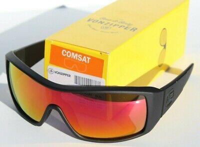 VON ZIPPER Comsat Sunglasses Black/Lunar Chrome NEW Skate/Surf (Von Zipper Sunglasses For Men)