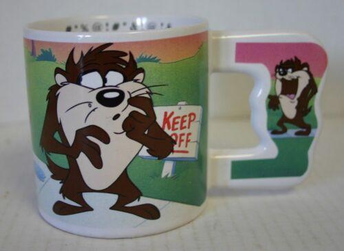 VTG 1992 Warner Bros. Keep Off TAZ Tazmanian Devil Coffee Mug Cup Looney Tunes