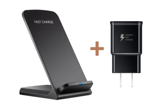 Qi Wireless Fast Charger Charging Pad Stand Dock Galaxy S8+ iPhone X 8 XS XR Cell Phone Accessories