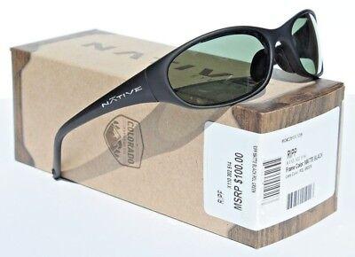 NATIVE EYEWEAR Ripp Sunglasses POLARIZED Matte Black/Gray Green NEW (Native Sunglasses)