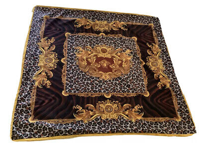 "55""55"" DV Versace Medoza Custom Made Throw Blanket Made From Upholstery Fabric"