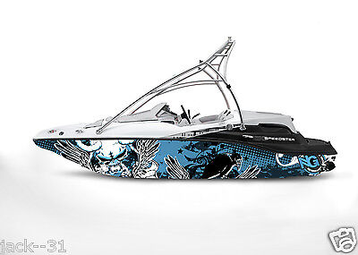 GRAPHIC vinyl KIT DECAL BOAT SPORTSTER SEA DOO SPEEDSTER SPORT WRAP WINGED DEMON