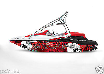 GRAPHIC KIT DECAL BOAT SPORTSTER SEA DOO SPEEDSTER SPORT WRAP SKULL X-TREME