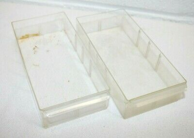 Lot Of 2 Vintage Akro-mils Storage Cabinet Replacement Parts 20-501 Drawers Guc