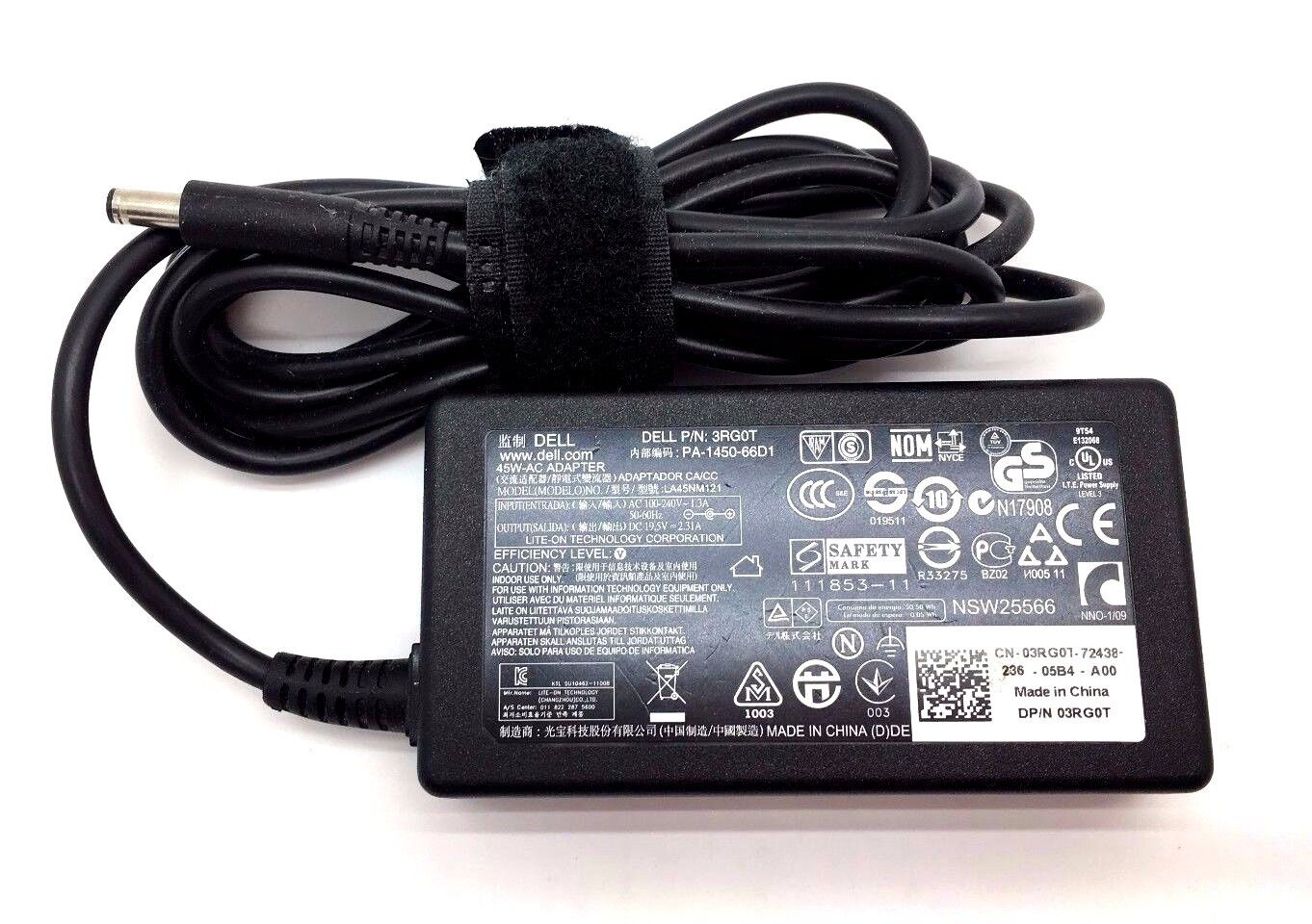 NEW Slim 100 Genuine LA45NM121 45W 19.5V 2.31A AC Charger For Dell XPS13 L321X - $26.99