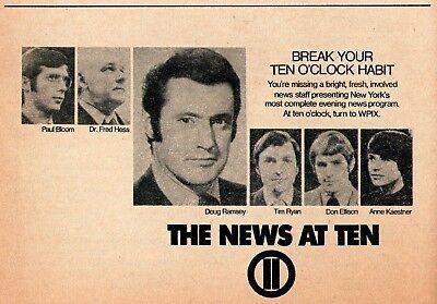 1971 TV NEWS AD~PAUL BLOOM~DOUG RAMSEY~ANNE KAESTNER~DON ELLSION~TIM RYAN