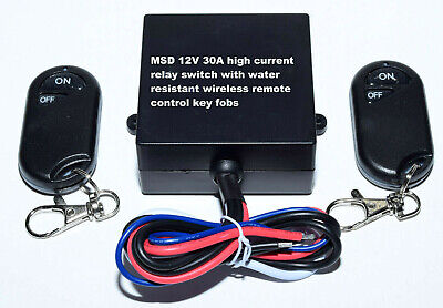 12V 315mhz 30A on off remote control relay switch with 2 water resistant key