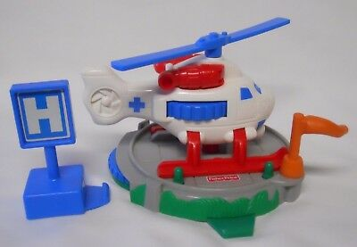 2003 Fisher Price GeoTrax Replacement Whirly Bird Rescue-Helicopter-Complete