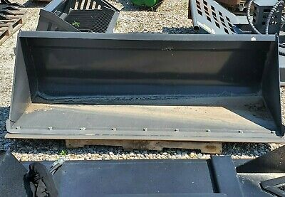 New 84 Heavy Duty Snow And Litter Bucket W Cutting Edge Skid Steer Attachment