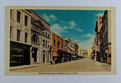 Postcard Historic King Street Charleston South Carolina Armory Pringle (Charleston King Street)
