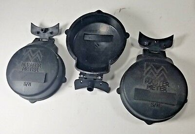 Master Meter Water Meter Parts - 3 Lids For Interpreter Register Housing New