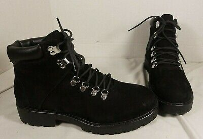 NEW WOMEN'S VAGABOND KENOVA BLACK LEATHER LACE UP HIKER BOOTS US 8.5 EUR 40, used for sale  West Haven