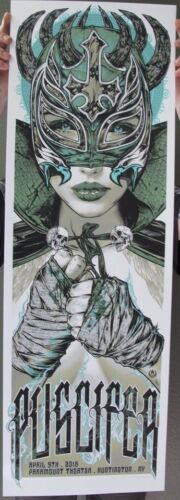 16 PUSCIFER TOOL HUNTINGTON GREEN VARIANT CONCERT POSTER 4/9 #/40 RHYS COOPER SN