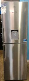 c385 stainless steel beko 50/50 fridge freezer with drinks dispenser new with manufacturer warranty