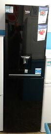b329 black beko 50/50 fridge freezer with drinks dispenser new with full manufacturer warranty